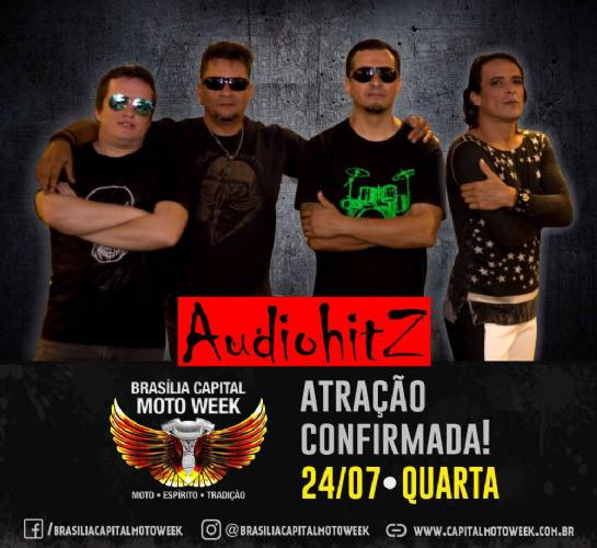 Banda AudioHtiz confirmada no Brasília Capital Moto Week 2019