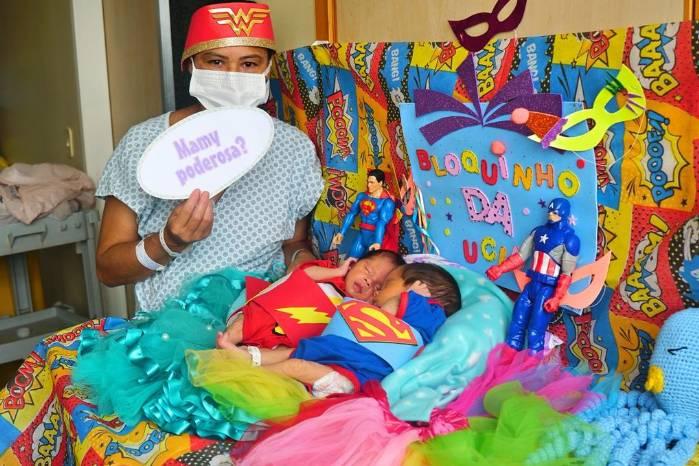 Bebês internados no HRSM ganham bloquinho de carnaval