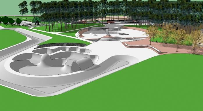 Um complexo de skate com padrão olímpico no Parque da Cidade>