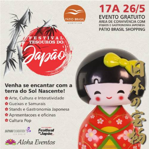 Festival, Tesouros do Japão, chega ao Pátio Brasil