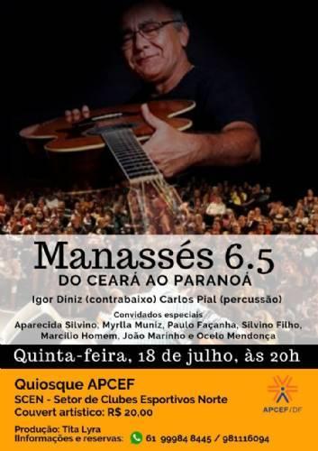 Manassés de Sousa completa 65 anos de idade com show que marca sua trajetória