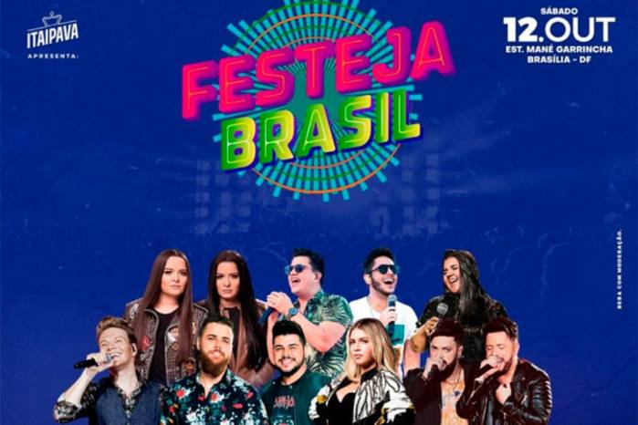 Brasília recebe Festeja Brasil dia 12 de outubro