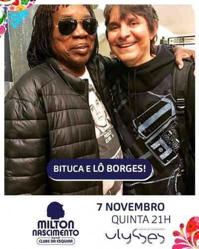 Milton Nascimento e Lô Borges em Brasília