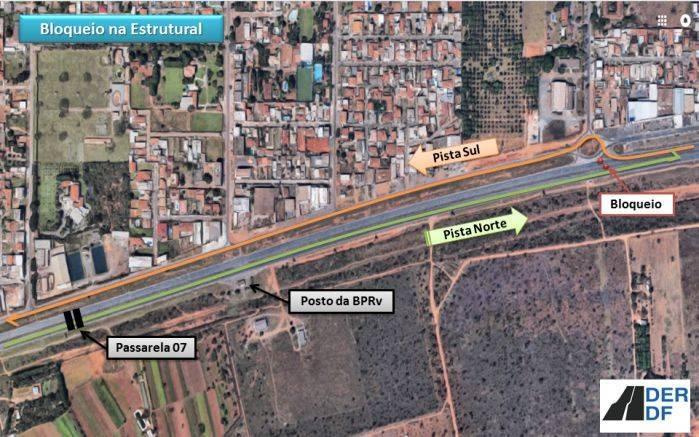 Intervenção do trânsito na Estrutural