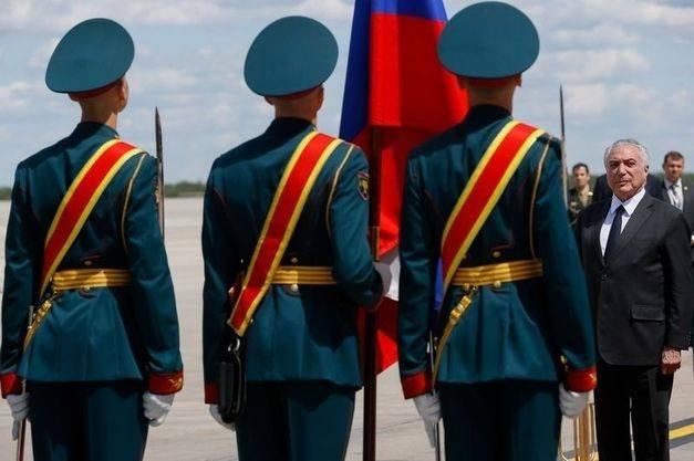 Temer chega a Moscou em busca de novos mercados e oportunidades para o Brasil