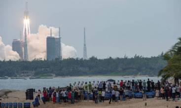 China conclui envio de nave de abastecimento para estação espacial