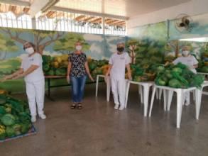 Escolas do DF entregam cesta verde e pais recebem ajuda de forma segura