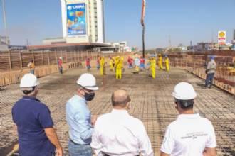Laje do Túnel de Taguatinga começa a ser concretada