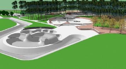 Um complexo de skate com padrão olímpico no Parque da Cidade