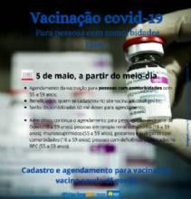 Novo grupo de comorbidades pode agendar vacinação