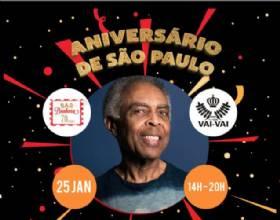 Gilberto Gil celebra aniversário de São Paulo no Esquenta do Camarote Bar Brahma