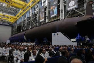 Em apresentação de novo submarino, Bolsonaro discursa sobre soberania