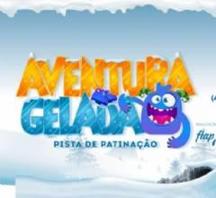 Pista de patinação Aventura Gelada chega ao Taguatinga Shopping