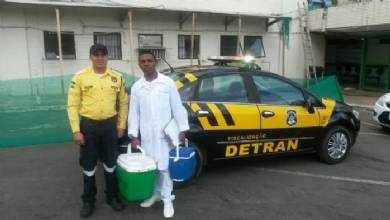 Equipe do Detran auxilia no transporte de córnea
