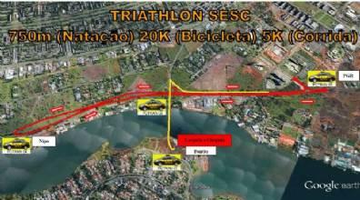 A ponte Costa e Silva será interditada para o Triathlon SESC