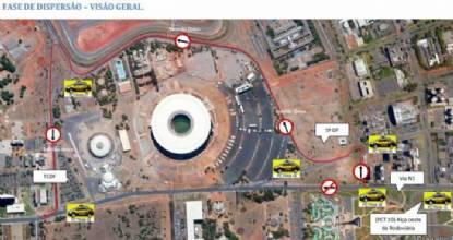 Detran altera trânsito na região do Mané Garrincha neste sábado (25)